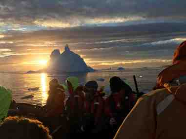 Spectacular sunsets in Antarctica